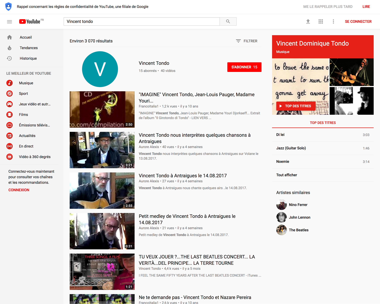 Vincent Tondo - YouTube
