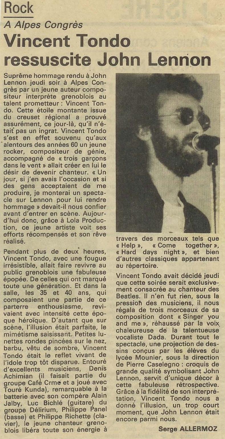 Vincent Tondo - John Lennon